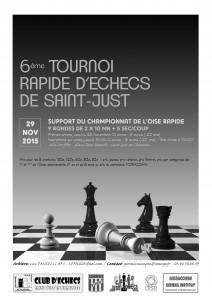 Affiche 6e Tournoi de St Just -2015